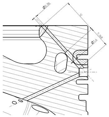 Instalación en la superficie del pistón